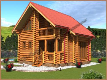 Проект деревянного дома 9 x 8