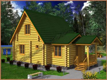 Проект деревянного дома 9 х 8