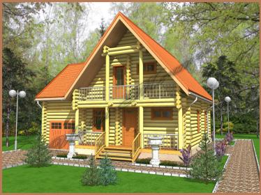 Проект дома 9 х 10 с гаражом