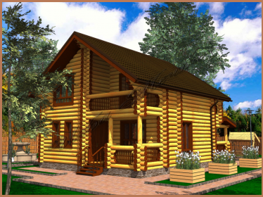 Проект дома 8 х 8
