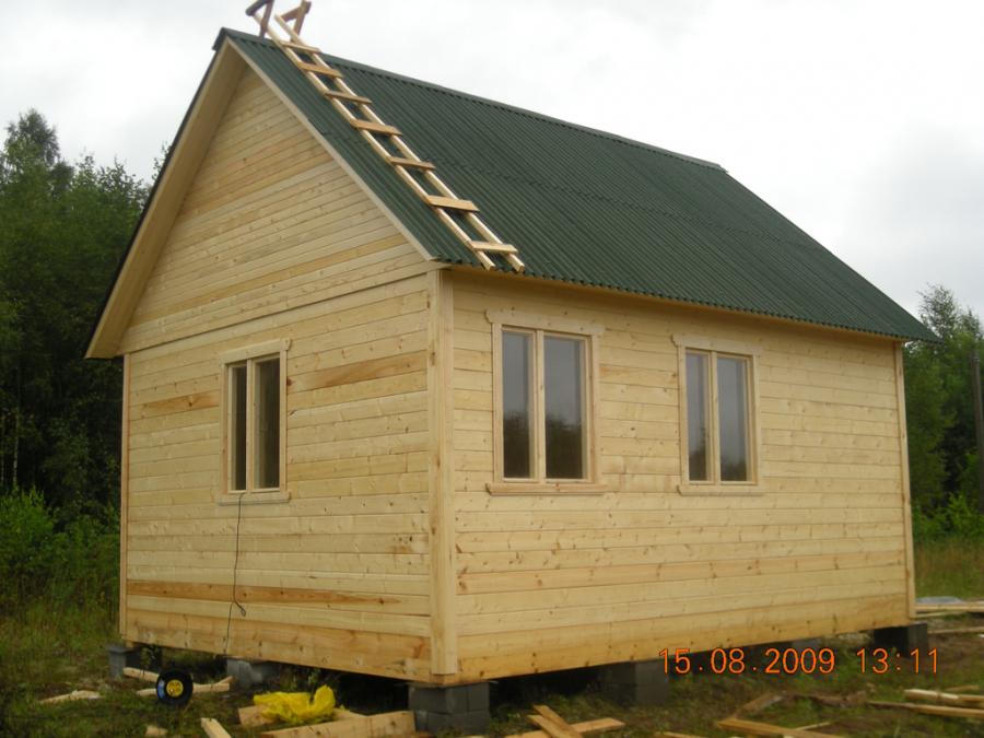 Строительство дачного домика из бруса своими руками