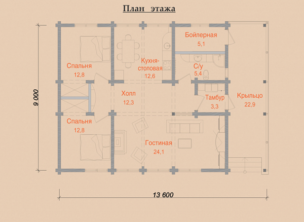 комплекте тюлевой план дома из бруса одноэтажные путают