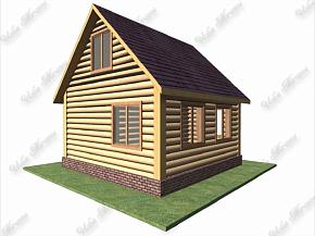 бревенчатый домик