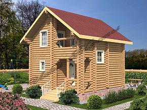 цена дома из оцилиндрованного бревна